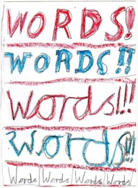 Words, Stefan Nawathe,  aged eight