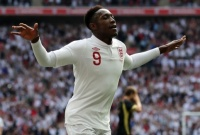 England striker Danny Welbeck in the new kit