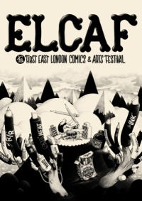 McBess' poster for East London Comics and Art Festival