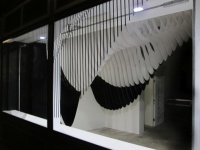 Zaha Hadid's Aqua installation for the Dover Street Market window
