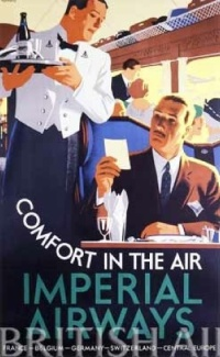 Comfort in The Air by Tom Purvis, Imperial Airways poster 1931