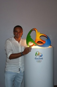 Fred Gelli with the Rio 2016 Olympic identity