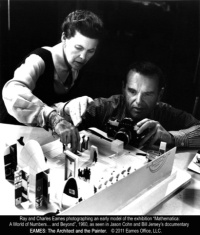 Eames with a model