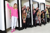 Girls Aloud star Nicola Roberts and Barnado's staff at the store opening
