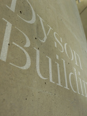 The Calvert Brody typeface at the RCA's Dyson Building