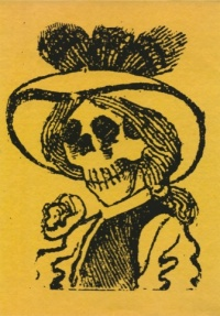 Detail from Calaverita Cupletista, by JG Posada
