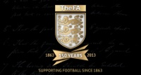 The FA's 150 year anniversary crest