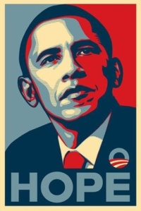 Shepard Fairey's Hope poster, from 2008