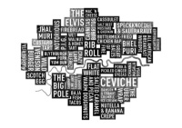 London street food word map