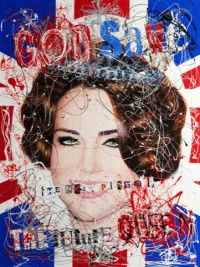 Zoobs: God Save the Queen, screen print
