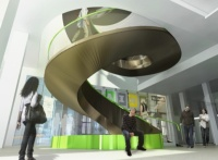 Spiral stair, Wellcome Collection development project