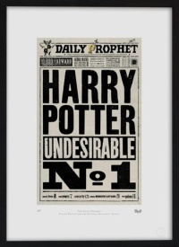 The Daily Prophet front page. Designed for Harry Potter and the Deathly Hallows - Part One