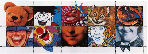 Smile stamps for Royal Mail, by Michael Peters and Partners