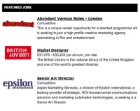 Featured jobs on Design Week's jobs site