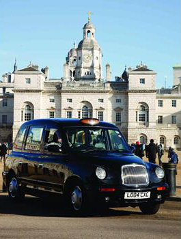The TX1 London Taxi, 1996, by Sir Kenneth Grange