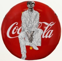 Warhol Sits on Coke Button
