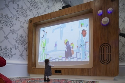 The Woodland Wiggle interactive designed by Chris O'Shea with Nexus Interactive Arts