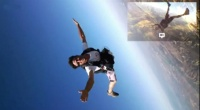 Skydiving with Google glasses