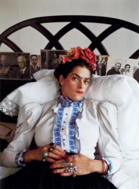 Tracey as Frida, London, 2000.
