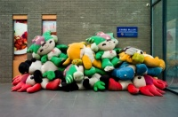 Olympic mascot pile-up in Beijing