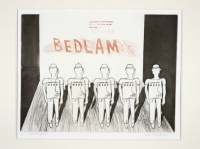 David Hockney, Bedlam, A Rake's Progress (portfolio of 16 prints), 1961-63