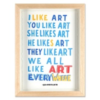 Bob and Roberta Smith print, given for donations of £75 or more