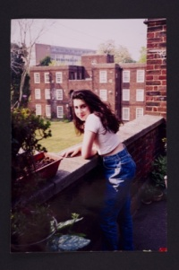 Amy on balcony