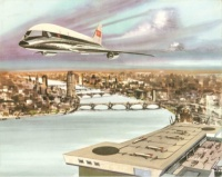 The Intercity Vertical Lift Aircraft design, drawn up in the 1960s