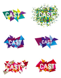 Cast identity with confetti variations