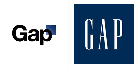 Gap unveiled this new logo (left) in 2011, before announcing it would not be used
