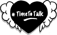 Time to Talk temporary tattoo graphic