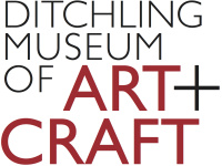 Ditchling Museum of Art and Craft branding, block text
