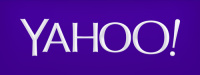 Yahoo's logo in purple colourway