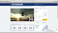 The new Ryanair homepage
