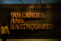 Volcanoes and Earthquakes exhibition graphic