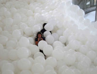 Martin Creed fills a room with balloons at Tate St Ives
