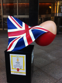 Virgin Atlantic Frying Lady egg by Mark Jump