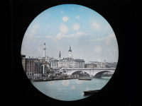 Magic Lantern Slide - London Bridge with Monument in the background
