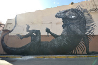 A rather chilled out lizard by ROA