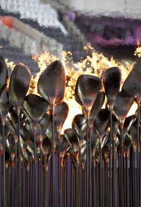 London 2012 Olympic Cauldron designed by Thomas Heatherwick