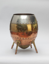 Christopher Dresser (1834-1904) Benham & Froud, Jardinière, c. 1880 Copper, brass and plated metal