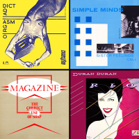 Some of Malcolm Garrett's record sleeve designs