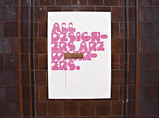 All Designers are Wankers poster by Build