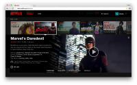 Netflix website redesign