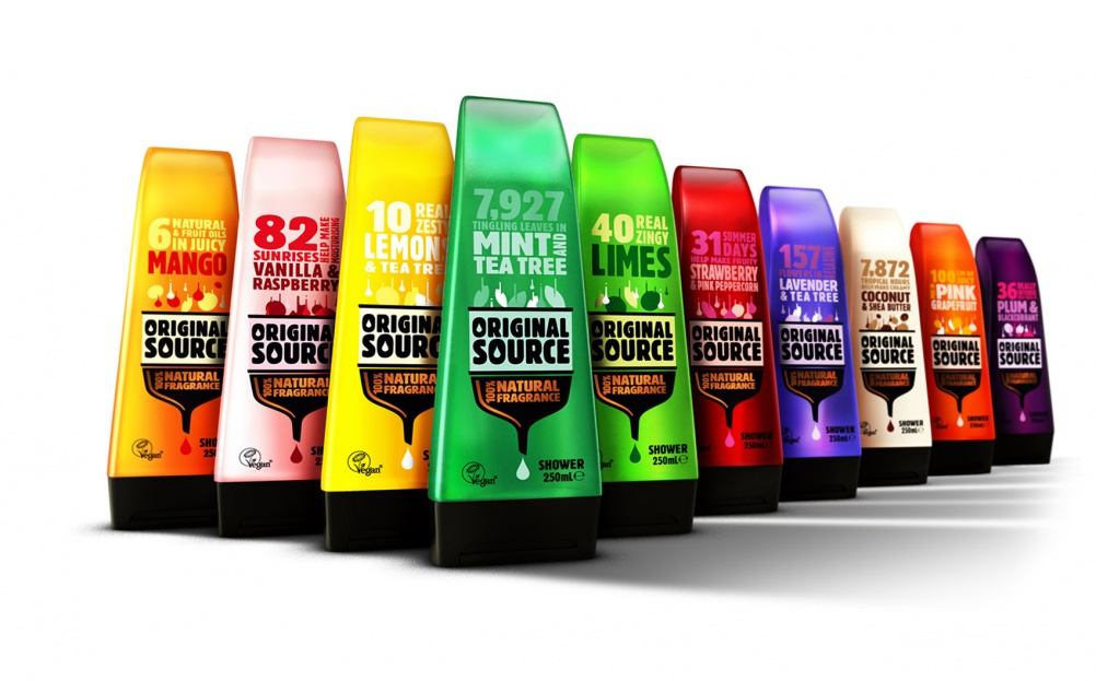 A squeaky clean brand identity for Original Source shower gel ...