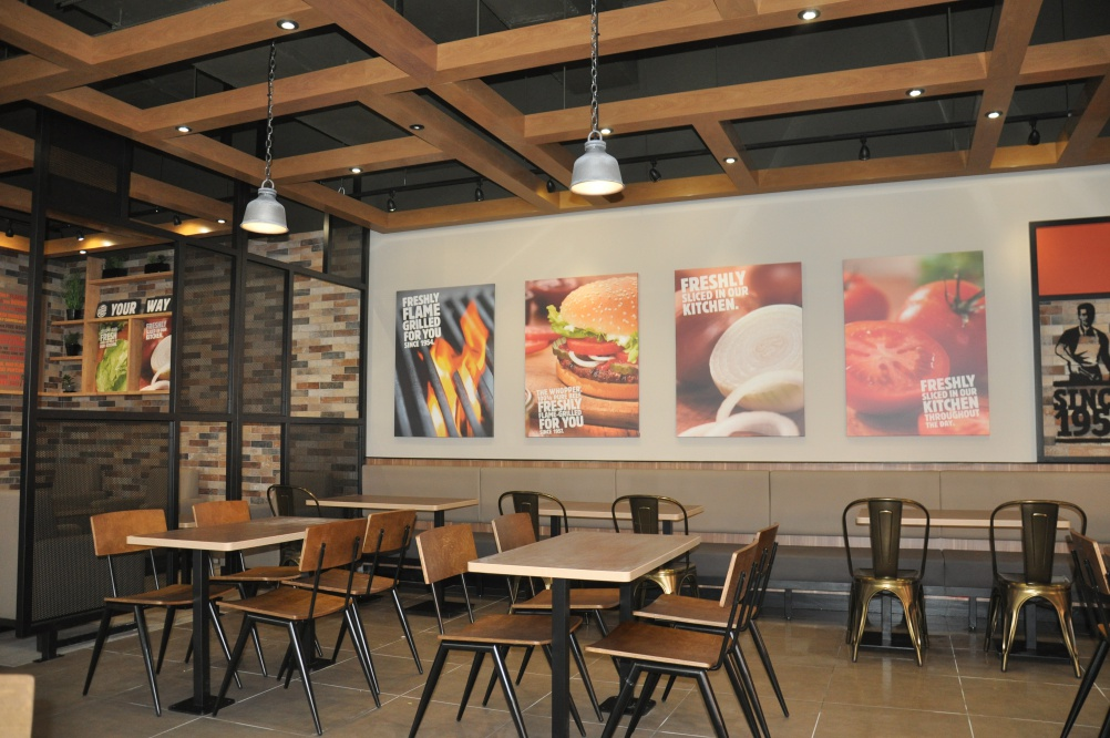 Burger King Launches New Interior Designs