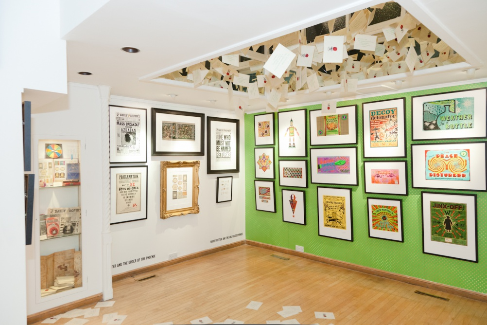 The interior space of MinaLima's last exhibition
